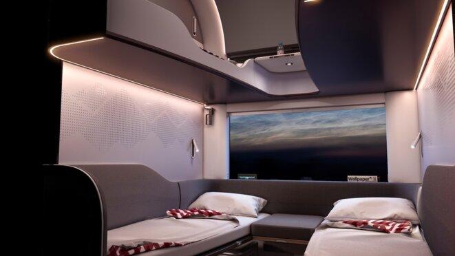 Futurs compartiments 4 couchettes nightjet ÖBB. Source : ÖBB/Etude design PriestmanGoode