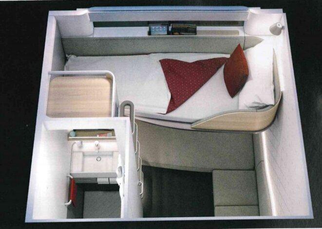 Fig. 6 : Nouveau concept d'hébergement orienté sur le voyageur – Nightjet 2022 Source : ÖBB/Etude design PriestmanGoode