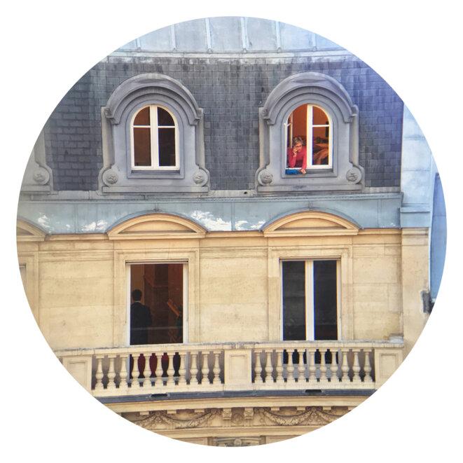 Façade d'un immeuble à Paris. Photo d'illustration, 2019. © Guillaume Squinazi