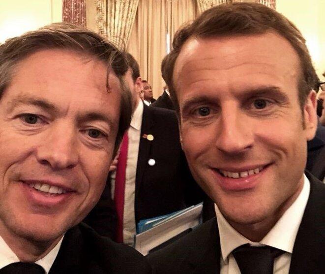 Nicolas Berggruen et Emmanuel Macron