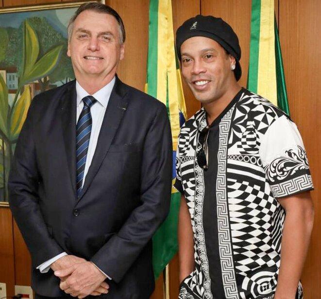 Bolsonaro et Ronaldinho