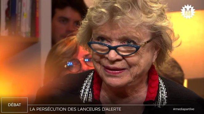 Eva Joly lors d'un MediapartLive.