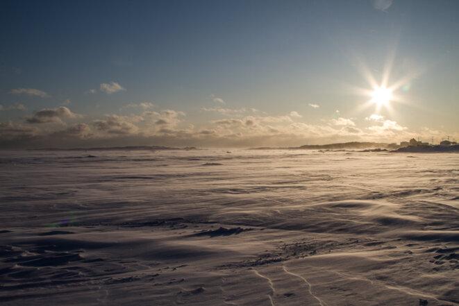 La Baie d'Unamen-Shipu est flagellée par les bourrasques