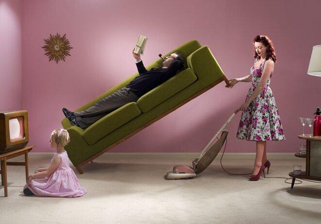 représentation visuelle inégalité au sein du couple © Getty image