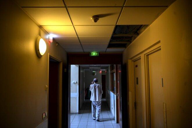 Un patient à Clos-Bernard, un hôpital psychiatrique à Aubervilliers le 12 février 2020. © Christophe Archambault/AFP