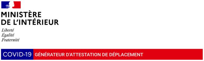 Site web du Ministère de l'Intérieur, page dédiée à l'attestation numérique