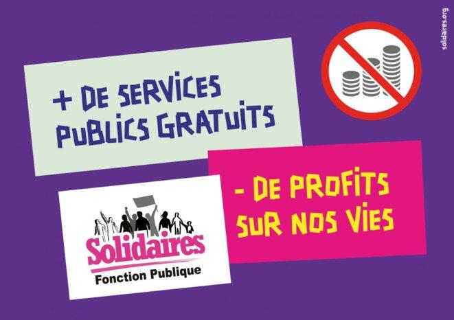 Affiche de l'Union syndicale Solidaires du Var (83) pour la journée de grève et de manifestations en défense des services publics le 9 mai 2019. Source: solidaires83.org © Union syndicale Solidaires