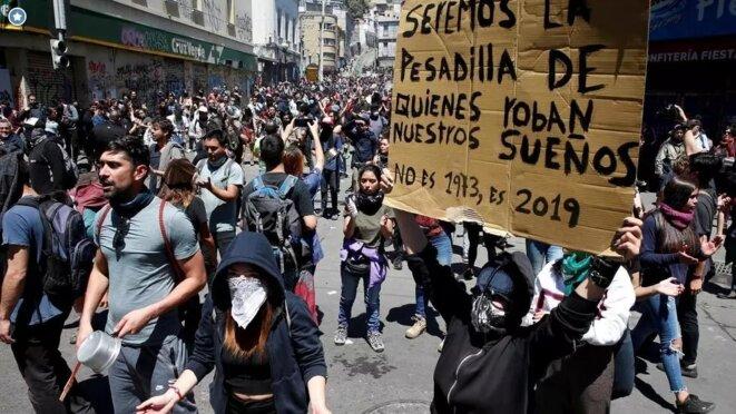 Manifestations au Chili, octobre 2019