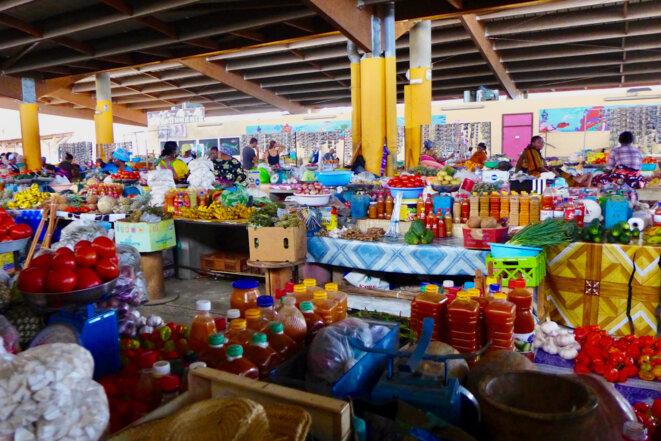 Le marché couvert de Mamoudzou. 2015. © daniel gros