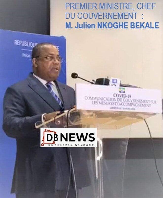 PREMIER MINISTRE, CHEF DU GOUVERNEMENT, M. Julien NKOGHE BEKALE