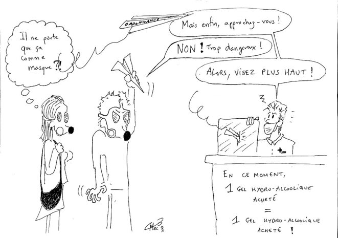 La peur du covid19 dans les pharmacies © MacB23