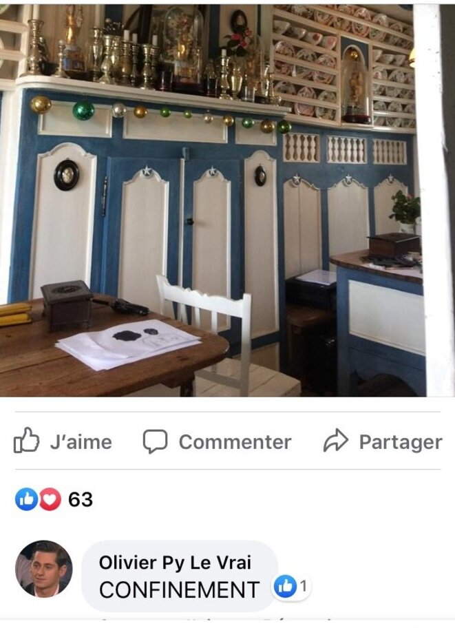 17 mars 2020. Capture d'écran page Facebook d'Olivier Py
