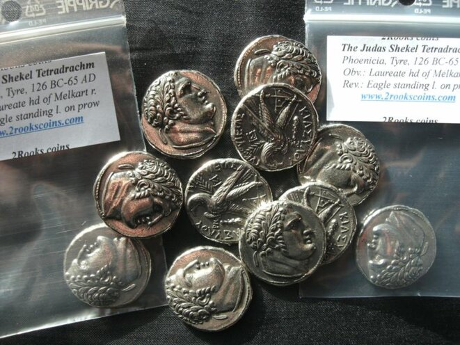 Biblical silver pieces for sale on Etsy