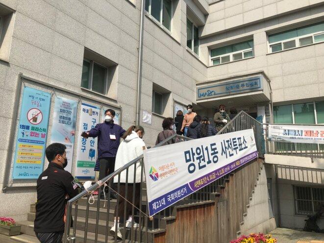 Bureau de vote à Séoul. © FO