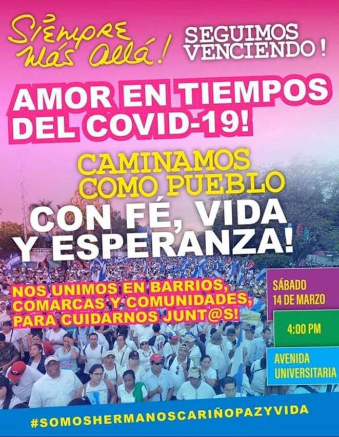 Manifestation massive promue par le gouvernement du Nicaragua à la mi-mars