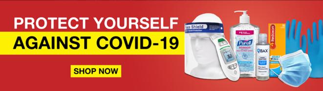 Un anuncio publicitario de material médico en una página web fraudulenta. © DR
