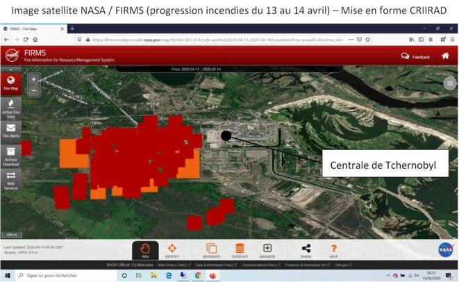 Incendies Tchernobyl / images NASA