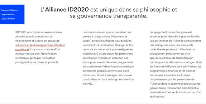 Objet de l'alliance ID2020