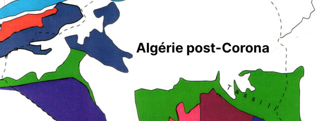 Carte réalisée à partir d'une cartographie des grands ensembles géologiques de l'Algérie © Djelloul Belhai