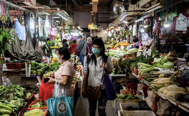 En un mercado en Hong Kong. © AFP