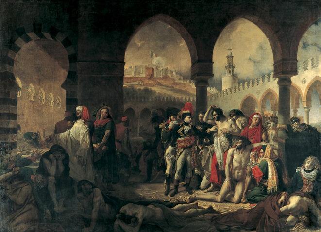 Bonaparte visitant les pestiférés de Jaffa (11 mars 1799) © Antoine-Jean Gros