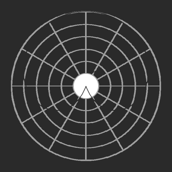 1, 2, essai micro... schéma d'un micro avec un indice de directivité cardioïde (directionnel)