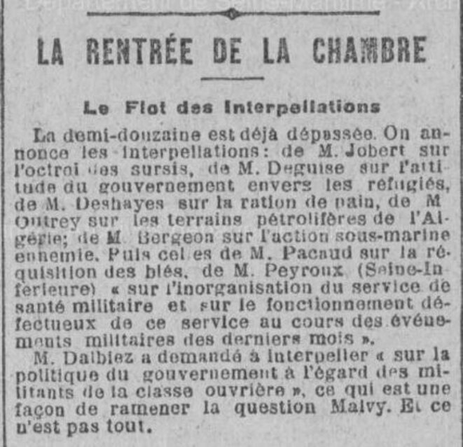 """Journal de Rouen"", 5 septembre 1918."