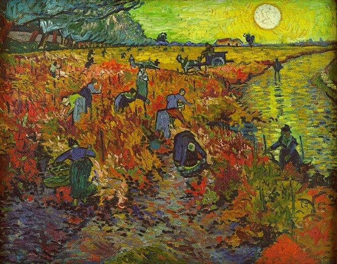 La Vigne rouge. Vendange et épidémie de phylloxéra. © Van Gogh