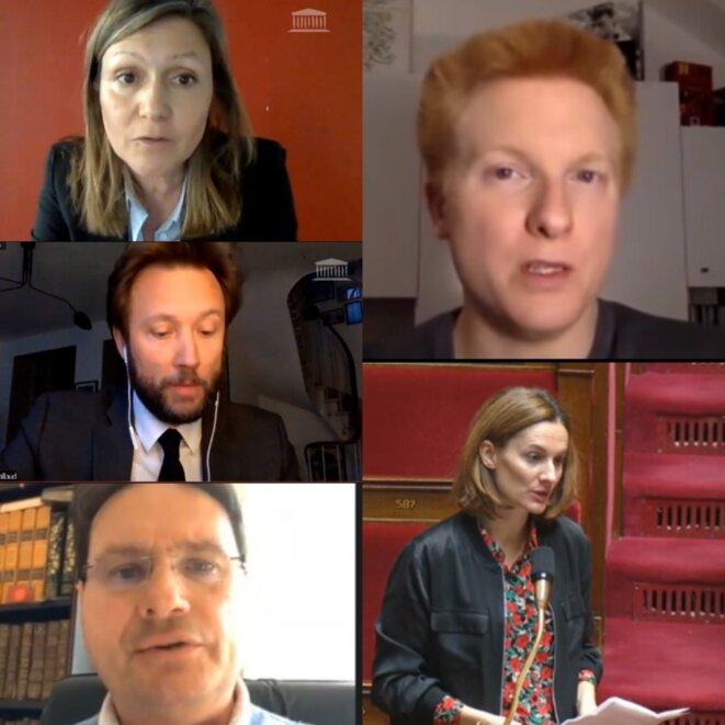 Cinq députés confinés. © DR