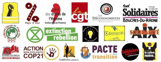 Les 17 associations et collectifs signataires de la lettre ouverte envoyée à Maryse Joissain Masini.