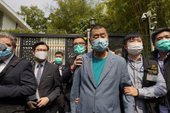 L'opposant Jimmy Lay, magnat de la presse, arrêté samedi 18 avril à Hong Kong. © EYEPRESS NEWS/EYEPRESS VIA AFP