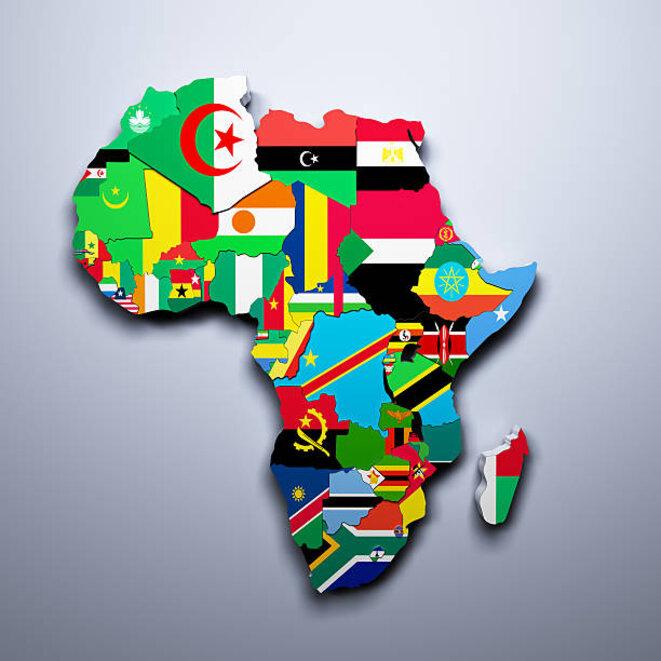 Afrique, drapeaux