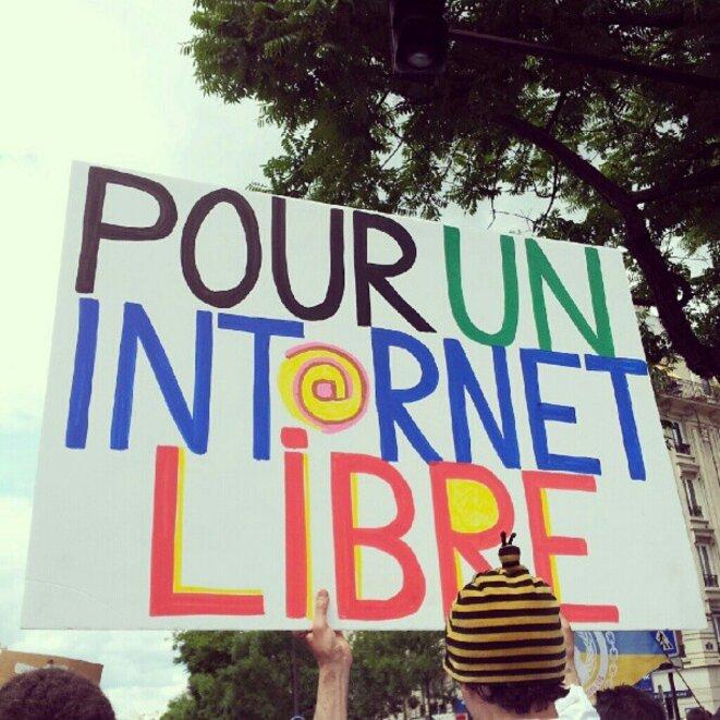 Manifestation pour la défense des libertés sur Internet © flickr.com/photos/g4ll4is/