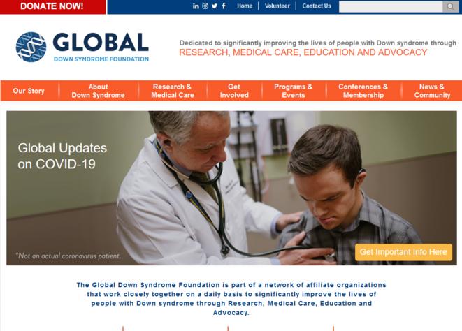 Global Down Syndrome Foundation © capture d'écran