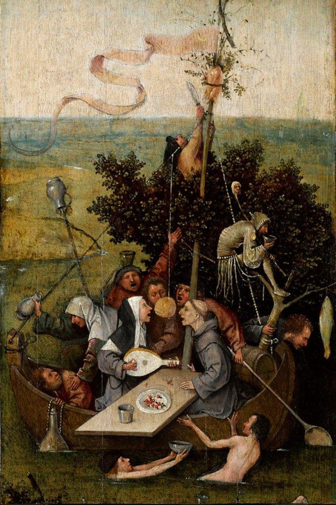 La Nef des fous, Bosch (Le Louvre)