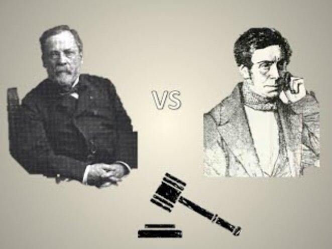 L'opposition entre Louis Pasteur et Félix Pouchet sur la génération spontanée (1859-1864) est un exemple célèbre de controverse scientifique. Les deux adhéraient pourtant à la démarche scientifique, la plus précise possible.