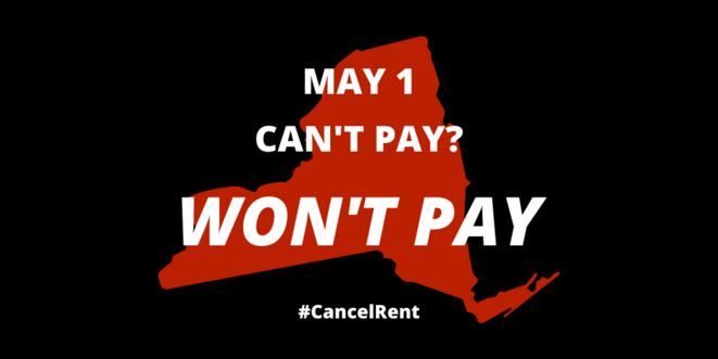 Affiche de la campagne de grève des loyers en mai.