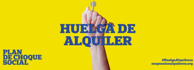 L'affiche de la «grève des loyers» en Espagne.