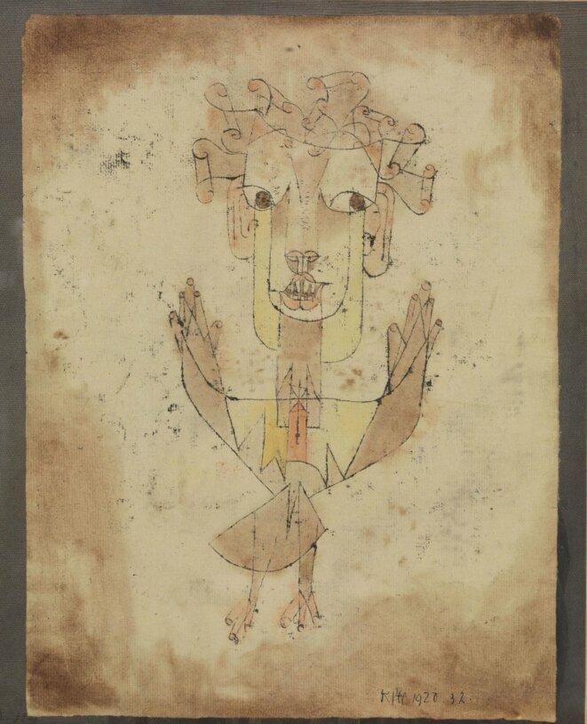 """Paul Klee, """"Angelus novus"""" 1920. The Israel Museum, Jerusalem"""