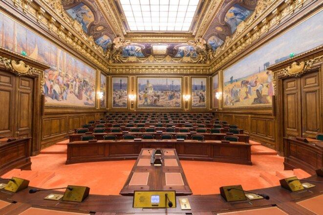 La salle de l'Assemblée générale du conseil d'État. © Conseil d'Etat