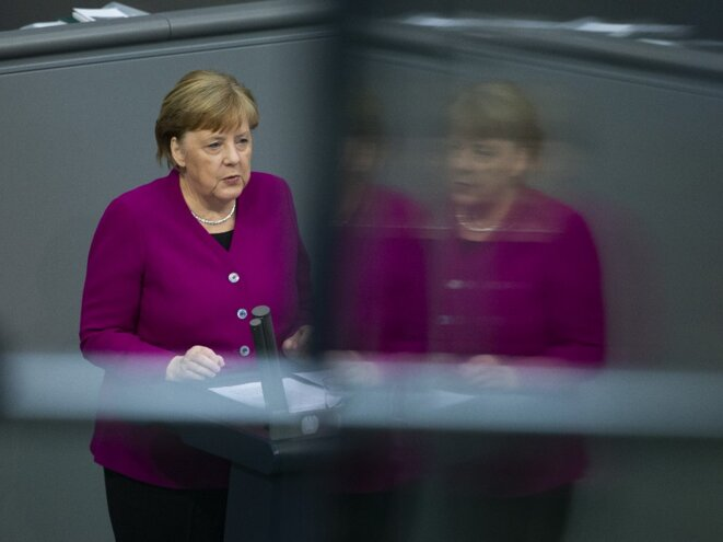 Angela Merkel - treating the German people as grown-ups.