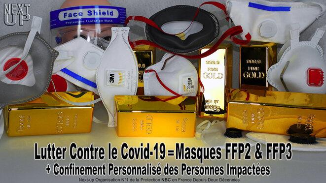 Masques anti-Covid-19 © Next Up
