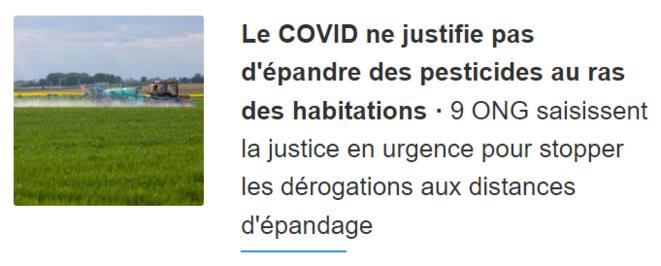 Pesticides + COVID = <3