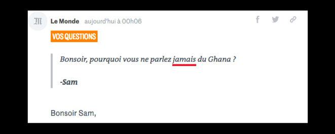 Pourquoi Le Monde s'acharne-t-il sur le Ghana? Et le Groenland? Et Confiland? © CONF, lui même