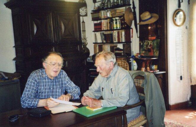 André Roumieux et Lucien Bonnafé © D.R.
