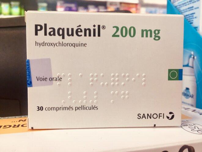 Boîte de Plaquénil, nom commercial de l'hydroxychloroquine. © DR.