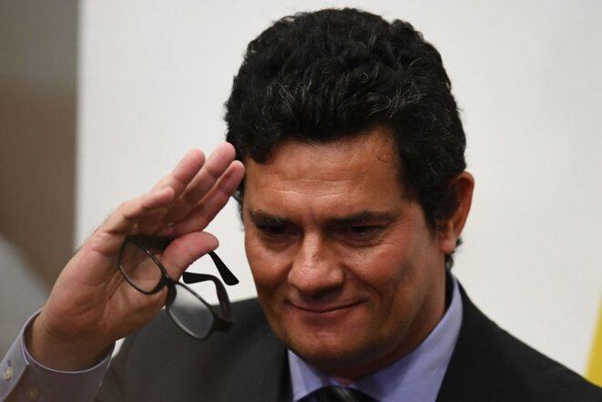 Sérgio Moro lors de la conférence de presse vendredi 24 avril 2020. © AFP