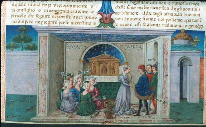 Il Decamerone, Boccaccio, illustré par Taddeo Crivelli, 1467, The Bodleian Library, Oxford University