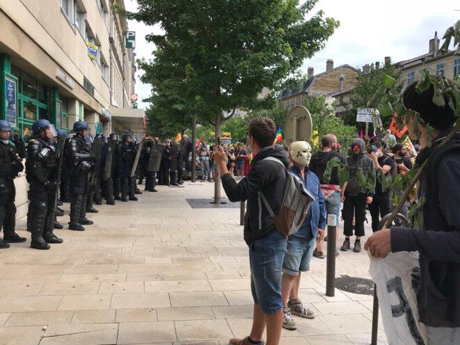Manifestation anti-Cigéo à Bar-le-Duc, le 16 juin 2018. (JL).
