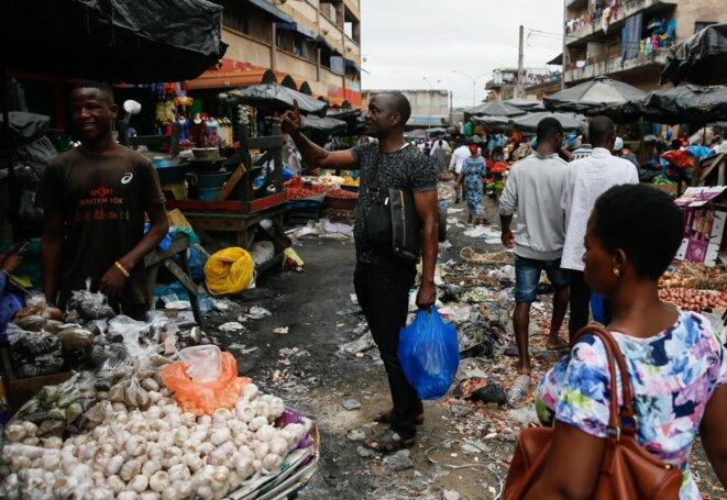 Marché d' Abidjan Côte d'Ivoire